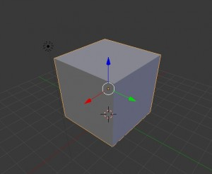 Sized cube in Blender