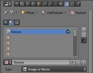 Define a texture for a material in blender