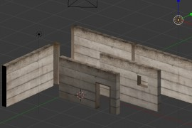 Modular design of walls with Blender