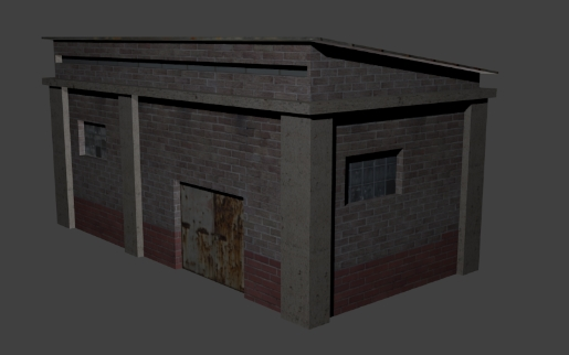 Low poly house industry