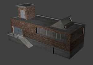 Industrial building low poly
