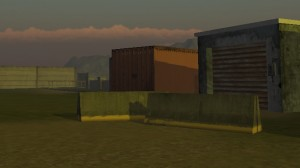 Container and concrete barriers in Unity