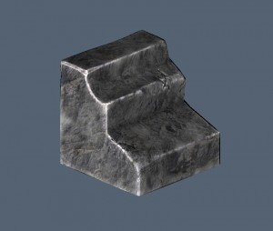 3D Coat rock-model (low poly) with baked textures