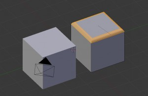 Bevel edges with blender