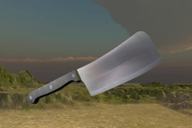 Bledner file fbx blade knife as unity asset