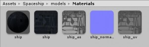 Material folder for the fbx-models in Unity