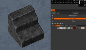 Paint with Rock texture /material