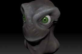 ZBrush Creature with Eyes as Subtools