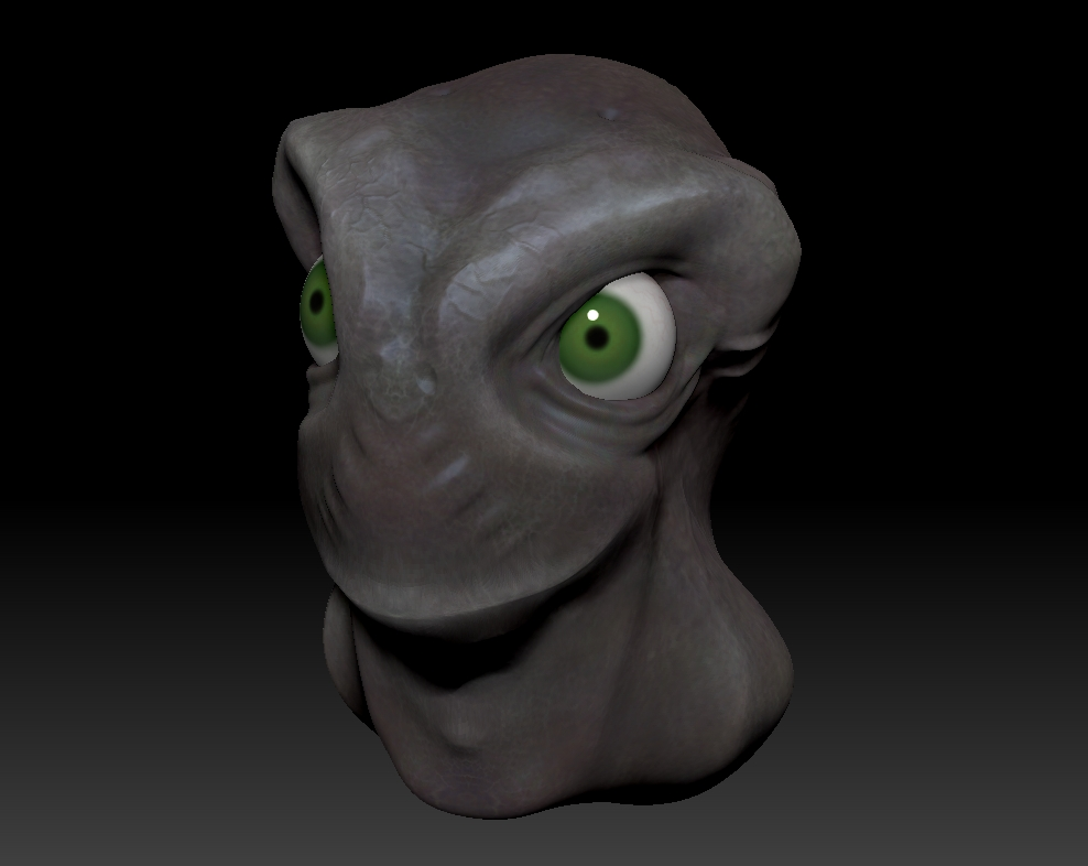Working with subtools in ZBrush