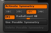 Activate radial symmetry for Z-axis