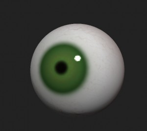 Eye with polypaiting in ZBrush