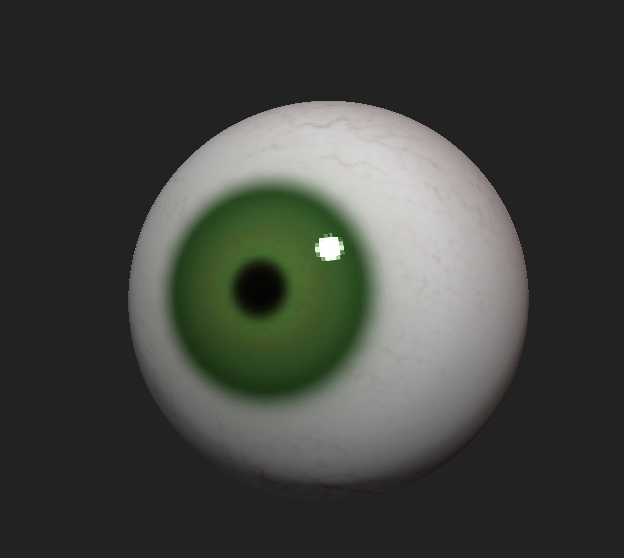 Polypainting an eye in ZBrush