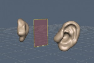 Ears of the 3D-Coat demo head