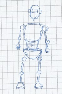 Very simple sketch of a robot