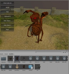 Animation Unity3D alient