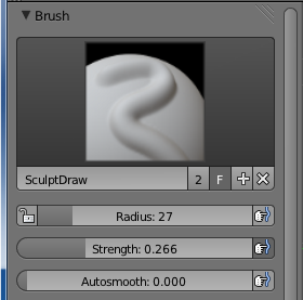 Sculpt draw brush