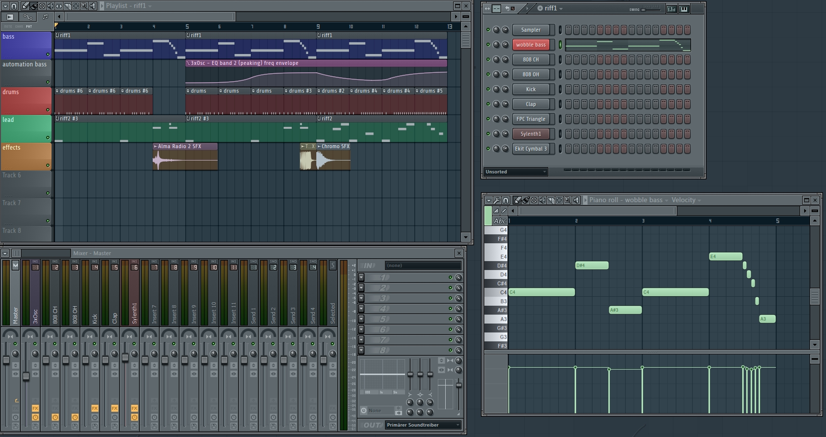 Gangsta rap beat FLStudio FLP