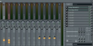 Mixer flstudio clap with plugins