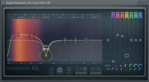 Cut mid frequency in Parametric EQ 2