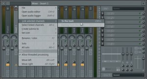 Link Kick to selected channel in Mixer in FL Studio 11