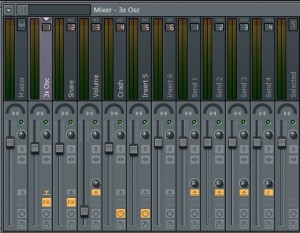 Channels of the uplifter-demo in FL Studio