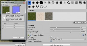 Add or edit a texture for the terrain in Unity