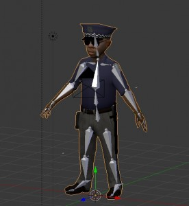 Rigged toon cop