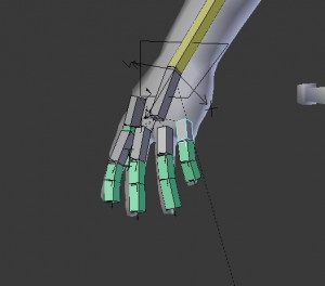 Finger rotation constraint