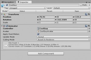 Animation controller for iClone character in Unity