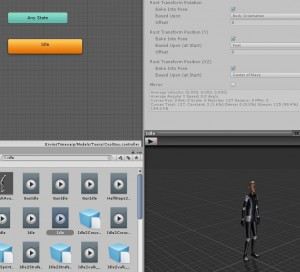 Select idle animation for humanoid character