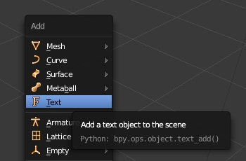 Add text object