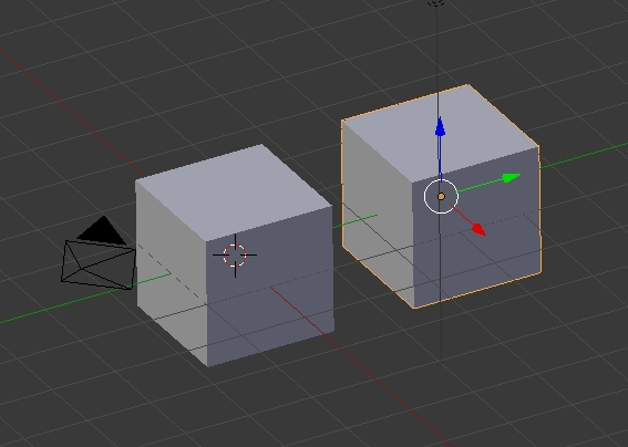Duplicated object Blender