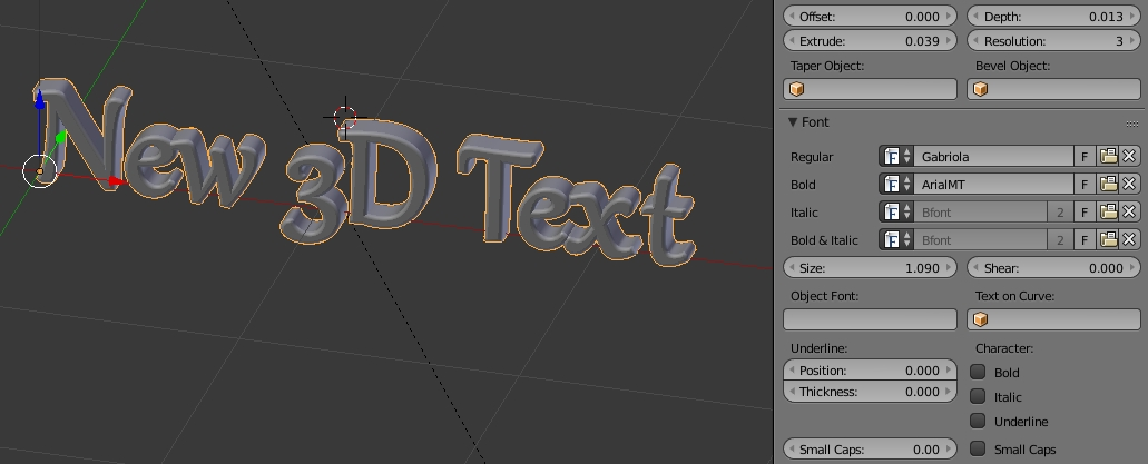 Fonts for Blender text