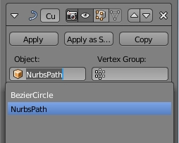 Change to nurbs path