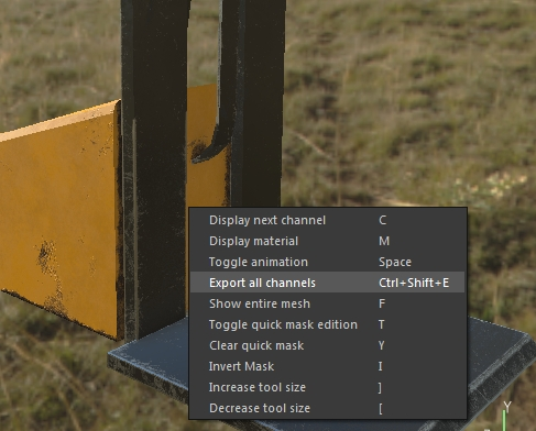 Export all channels in Substance Painter