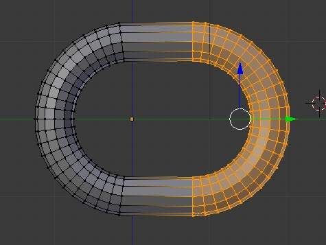 extend torus along x axis