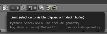Deselect limit selection to visible
