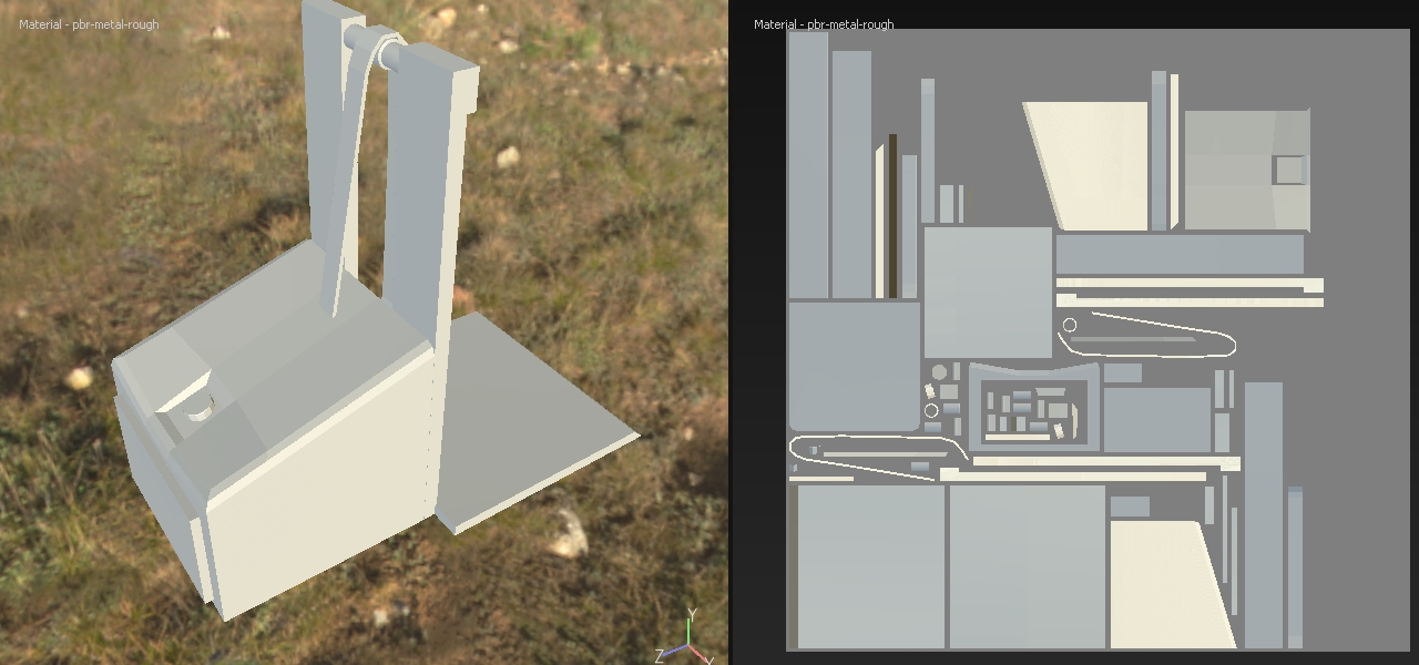 UV and 3d view
