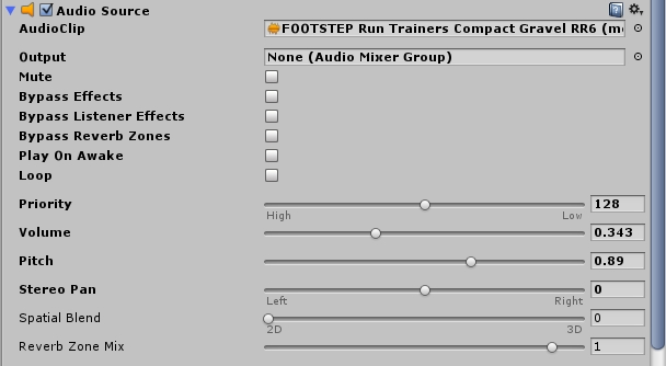 Audiosource Footsteps Unity3d