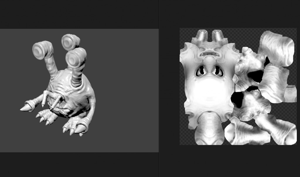 Monster Blender low / mid poly with ambient occlusion