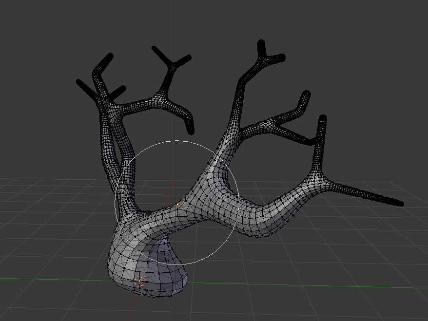 Use proportioal editing for mesh