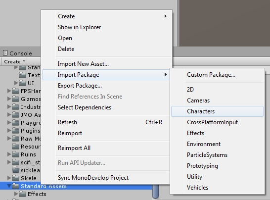 Import Package Unity5