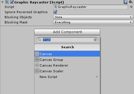 Add Unity UI Canvas