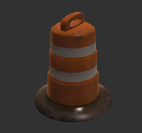 Traffic barrel Unity5 pbr