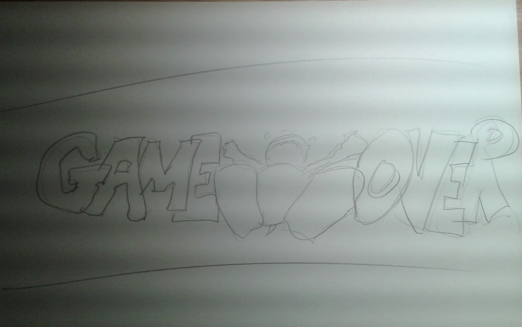 Sketch of the game over screen