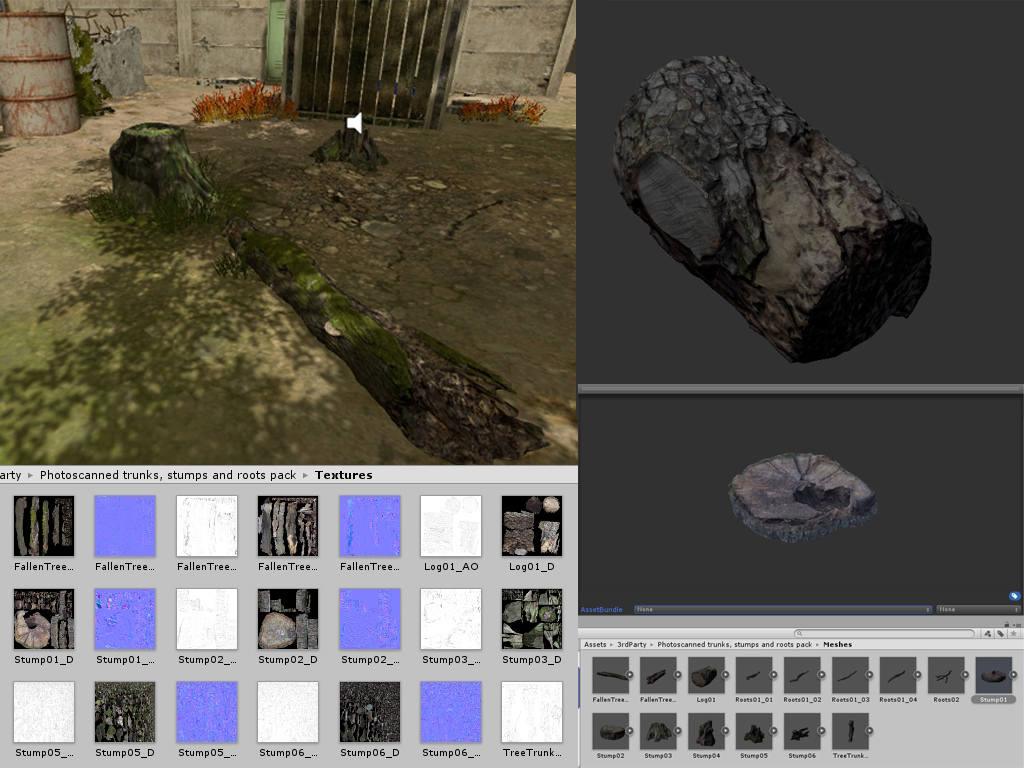 Tree & stumps asset Unity 5