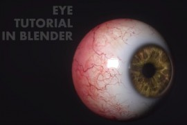 Eye model in Blender