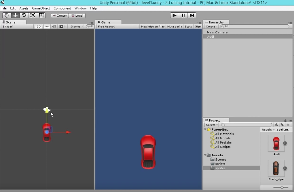 Unity 2D racing game tutorial