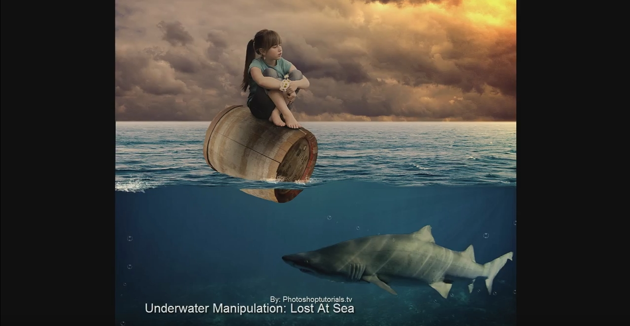 Photoshop Manipulation Tutorial: Lost at sea