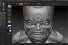ZBrush character sculpting head